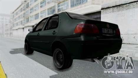 Fiat Albea für GTA San Andreas zurück linke Ansicht