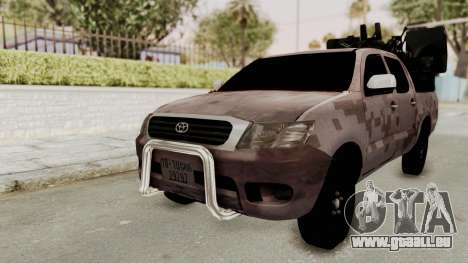 Toyota Hilux 2014 Army Libyan pour GTA San Andreas