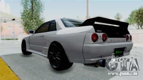 Nissan Skyline BNR32 Hot Version pour GTA San Andreas laissé vue