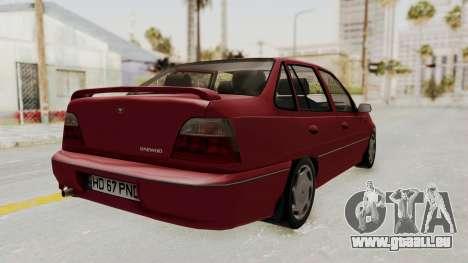 Daewoo Cielo 1.5 GLS 1998 pour GTA San Andreas laissé vue