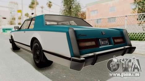 GTA 5 Dundreary Virgo Classic IVF pour GTA San Andreas vue de droite