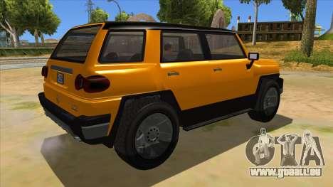 Karin Beejay XL pour GTA San Andreas vue de droite
