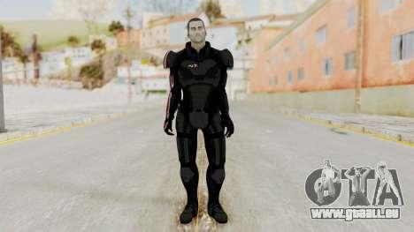 Mass Effect 2 Shepard Default N7 Armor No Helmet für GTA San Andreas zweiten Screenshot