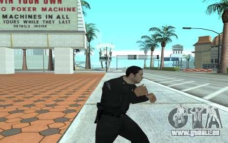Los Santos Police Officer pour GTA San Andreas troisième écran