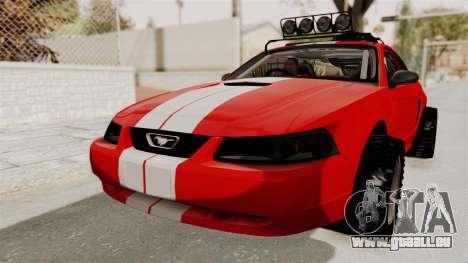 Ford Mustang 1999 Rusty Rebel pour GTA San Andreas vue de droite