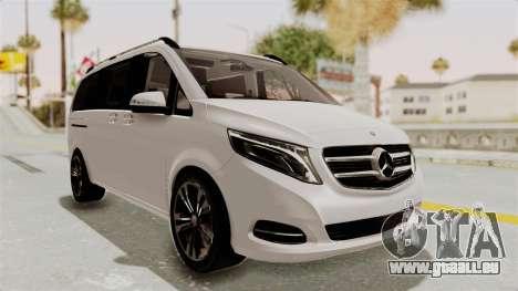 Mercedes-Benz V-Class 2015 für GTA San Andreas rechten Ansicht