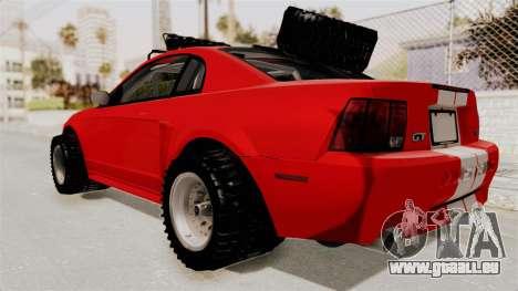 Ford Mustang 1999 Rusty Rebel pour GTA San Andreas sur la vue arrière gauche