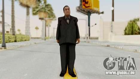 Taher Shah Black Suit pour GTA San Andreas deuxième écran