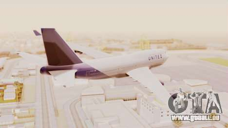 Boeing 747-400 United Airlines für GTA San Andreas linke Ansicht