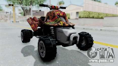 Sand Stinger from Hot Wheels Worlds Best Driver pour GTA San Andreas vue de droite
