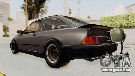Ford Sierra Mk1 Drag Version für GTA San Andreas zurück linke Ansicht