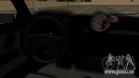 Fiat Uno für GTA San Andreas Innenansicht