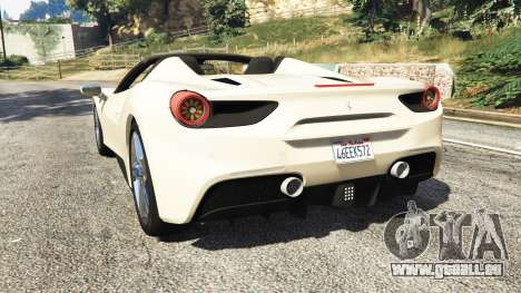 GTA 5 Ferrari 488 GTS arrière vue latérale gauche
