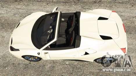 GTA 5 Ferrari 488 GTS vue arrière