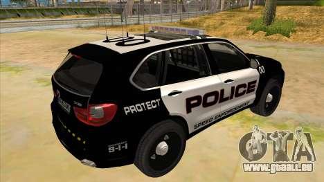 2014 BMW X5 F15 Police pour GTA San Andreas vue de droite