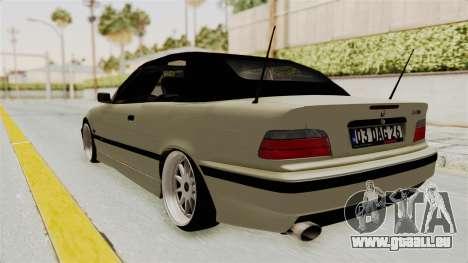 BMW 320CI E36 pour GTA San Andreas laissé vue