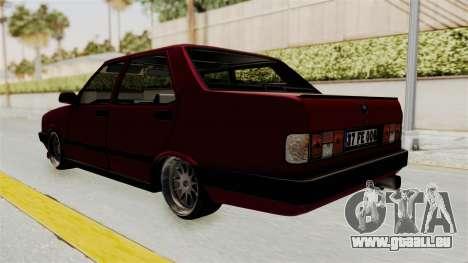 Tofas Dogan 1.6 pour GTA San Andreas sur la vue arrière gauche