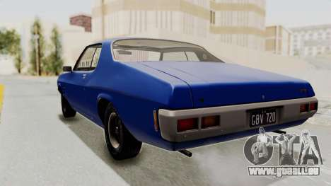 Holden Monaro GTS 1971 AU Plate IVF pour GTA San Andreas laissé vue