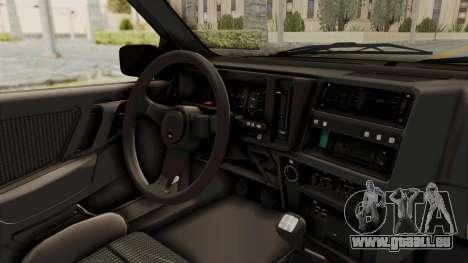 Ford Sierra Mk1 Drag Version pour GTA San Andreas vue intérieure