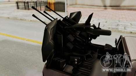 Toyota Hilux 2014 Army Libyan pour GTA San Andreas vue intérieure