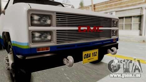 GMC Sierra 3500 pour GTA San Andreas vue arrière