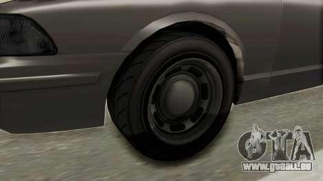 GTA 5 Vapid Stanier II Police Cruiser 2 IVF pour GTA San Andreas vue arrière