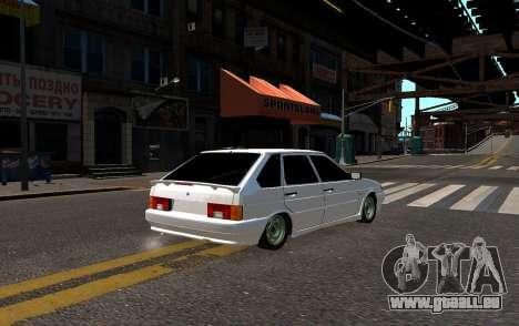 VAZ 2114 Brodyaga pour GTA 4 Vue arrière de la gauche