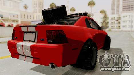 Ford Mustang 1999 Rusty Rebel pour GTA San Andreas laissé vue
