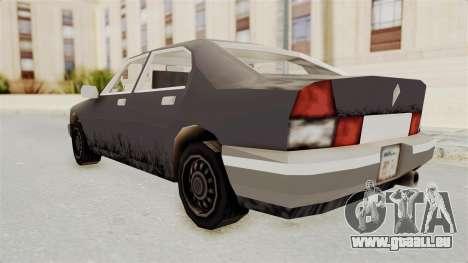 GTA 3 Sentinel pour GTA San Andreas laissé vue