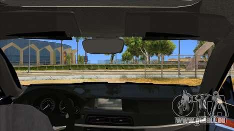 2014 BMW X5 F15 Police pour GTA San Andreas vue intérieure