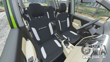 GTA 5 Dacia Sandero Stepway 2014 droite vue latérale