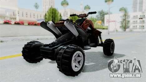 Sand Stinger from Hot Wheels Worlds Best Driver pour GTA San Andreas sur la vue arrière gauche