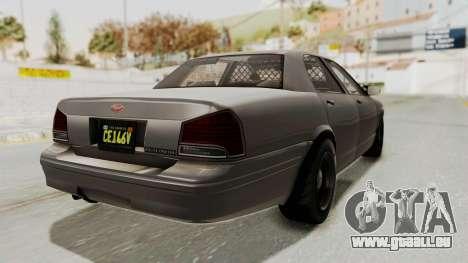 GTA 5 Vapid Stanier II Police Cruiser 2 IVF pour GTA San Andreas laissé vue