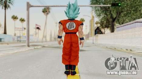 Dragon Ball Xenoverse Goku SSGGSS pour GTA San Andreas troisième écran