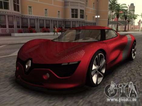 Renault Dezir Concept pour GTA San Andreas sur la vue arrière gauche