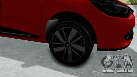 Renault Clio 4 HQLM für GTA San Andreas Rückansicht
