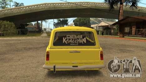 VAZ 2102 BK pour GTA San Andreas sur la vue arrière gauche