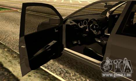 Mitsubishi Lancer 2005 pour GTA San Andreas vue arrière