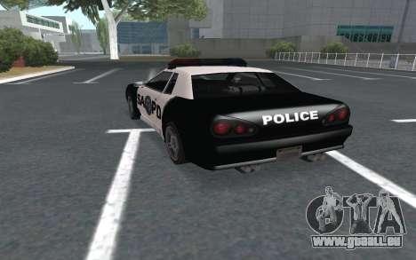 Elegy SAPD pour GTA San Andreas laissé vue