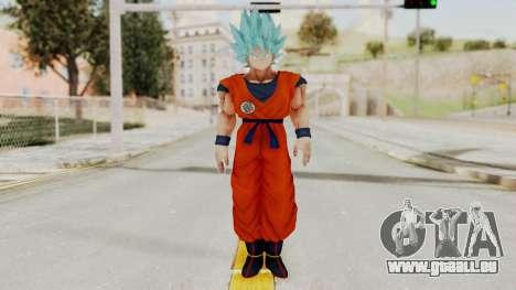 Dragon Ball Xenoverse Goku SSGGSS pour GTA San Andreas deuxième écran