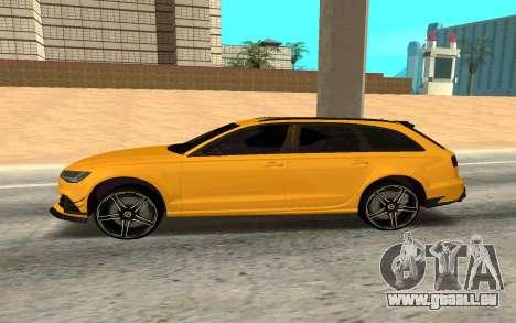 Audi RS6 Avant 2015 ABT pour GTA San Andreas laissé vue