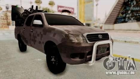 Toyota Hilux 2014 Army Libyan pour GTA San Andreas vue de droite