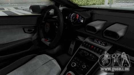 Lamborghini Huracan LP610-4 2015 Liberty Walk LB pour GTA San Andreas vue intérieure