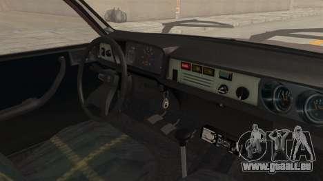 Dacia 1310 TX Tuning pour GTA San Andreas vue intérieure
