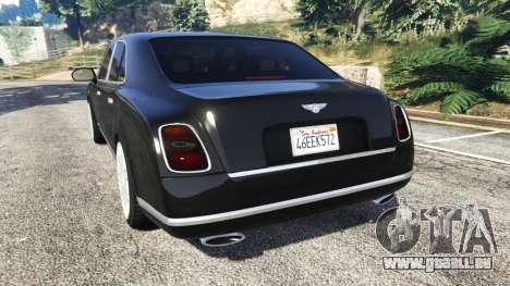 Bentley Mulsanne 2010 pour GTA 5