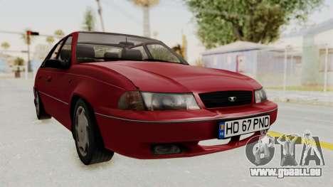 Daewoo Cielo 1.5 GLS 1998 pour GTA San Andreas sur la vue arrière gauche