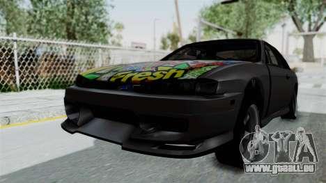 Nissan Silvia S14 für GTA San Andreas zurück linke Ansicht