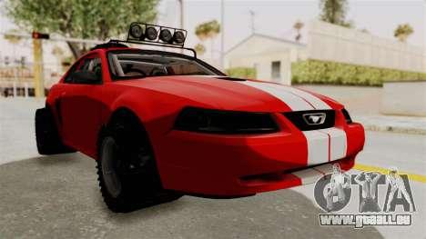 Ford Mustang 1999 Rusty Rebel pour GTA San Andreas