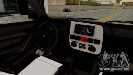 Tofas Dogan 1.6 pour GTA San Andreas vue intérieure