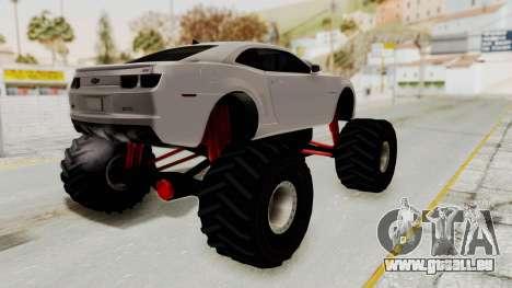 Chevrolet Camaro SS 2010 Monster Truck pour GTA San Andreas laissé vue